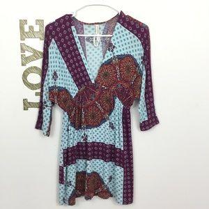 RENEE C. JERSEY KNIT PRINT DRESS